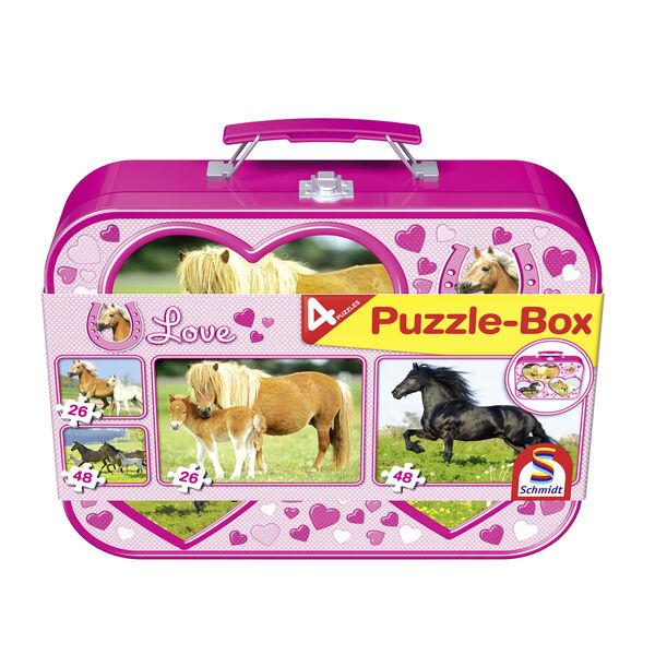Horses Puzzle Box (2x26pc/2x48pc)