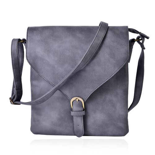 Cambridge Classic Grey Crossbody Bag with Adjustable Shoulder Strap (Size 27x24x2 Cm)