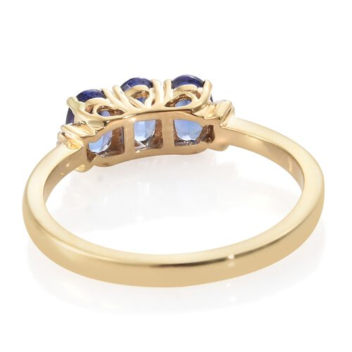 Iliana AAA Tanzanite (1.50 Ct) and Diamond 18K Y Gold Ring  1.550  Ct.