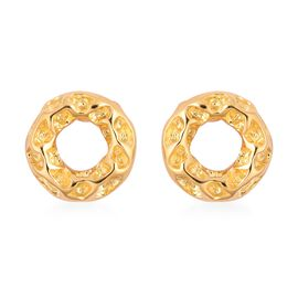 RACHEL GALLEY Allegro Circle Stud Earrings with Push Back in Gold Plated Silver