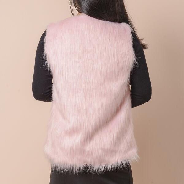 Pink Colour Faux Fur Gilet  (One Size Fits all; 50x70 Cm)