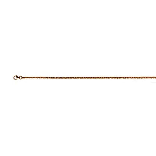 Italian Made - Rose Gold Overlay Sterling Silver Diamond Cut Rock Bracelet (Size 7.5)