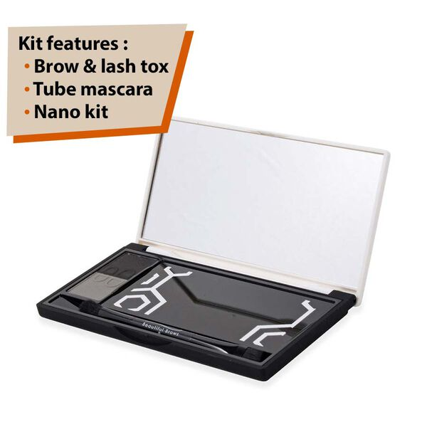 Beautiful Brows: Brow & Lash Tox & Tube Mascara & Nano Kit - Slate/Black