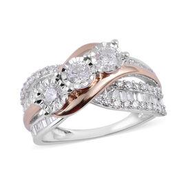 1.50 Carat Diamond Cluster Ring in 14K White Gold 6 Grams