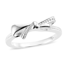Sterling Silver Bow Ring, Silver wt 3.73 Gms.