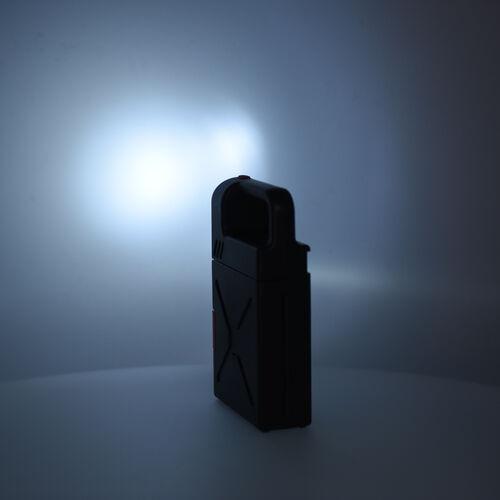 Portable Flashlight Jerry Can Design Tool Box (Inclds. 1pc Handle, 1pc Prolong Bar, 4pcs Precision Screwdrivers, 8pcs Sockets, and 10pcs Bits)- Red and Black