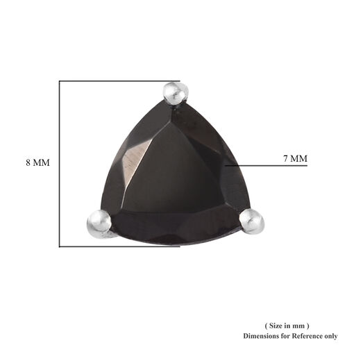 Elite Shungite (Trl) Stud Earrings in Platinum Overlay Sterling Silver 1.500 Ct.