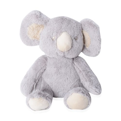 Set of 2 - Light Grey Koala with Supersoft Printed Flannel Blanket (75x100 cm) EN71 Certified