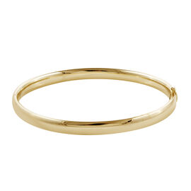 Royal Bali Collection 9K Yellow Gold High Finish Bangle (Size 7.5), Gold wt 7.00 Gms