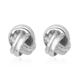 Sterling Silver Knot Stud Earrings (with Push Back), Silver wt 3.70 Gms