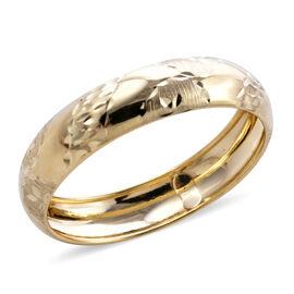 BALI LEGACY - 9K Yellow Gold Diamond Cut Band Ring