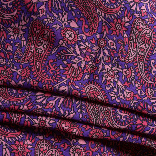 Multi Colour Paisley and Floral Pattern Purple Colour Sleeveless Apparel