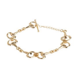 Designer Inspired 7.5 Inch Snaffle Bracelet in 9K Gold 6.63 Grams
