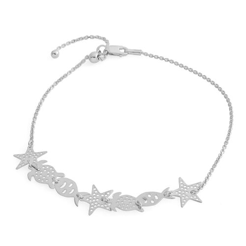Sterling Silver Adjustable Anklet (Size 10), Silver wt 3.51 Gms.