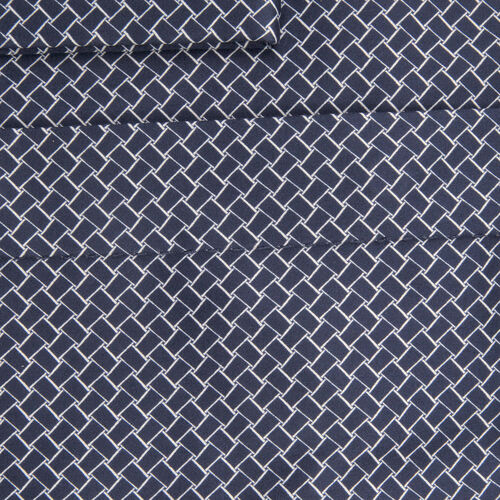 William Hunt Saville Row Forward Point Collar Dark Blue and White Shirt Size 16.5