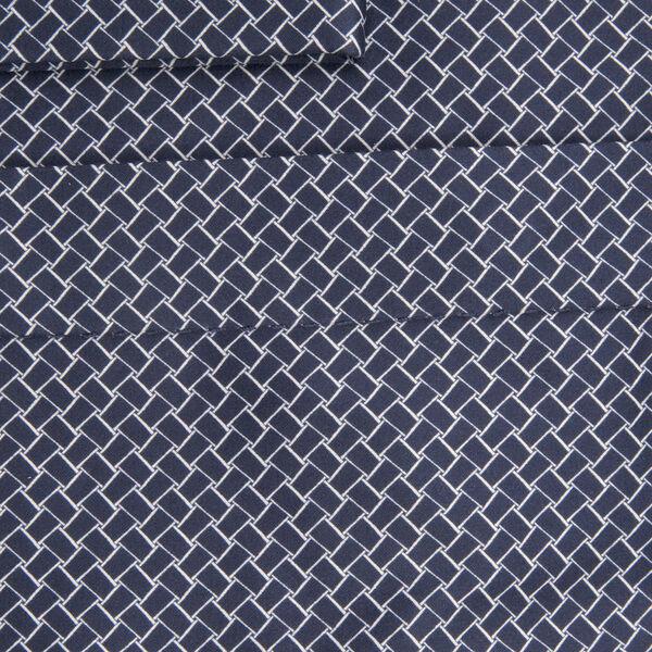 William Hunt Saville Row Forward Point Collar Dark Blue and White Shirt Size 16