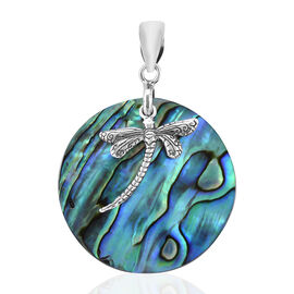 Royal Bali Collection Abalone Shell  Dragonfly Pendant in Sterling Silver
