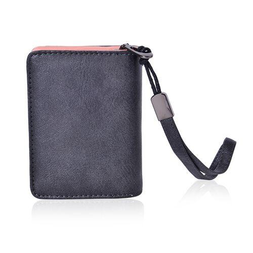 Swan Embroidered Black Bi-Fold Wallet (Size 11.7x8.5x3 Cm)