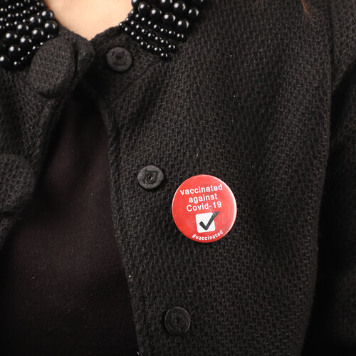 Vaccinated Badge in Red (Size- 4.5 CM)