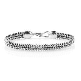 Royal Bali Collection Sterling Silver Bracelet (Size 8), Silver wt 23.04 Gms.