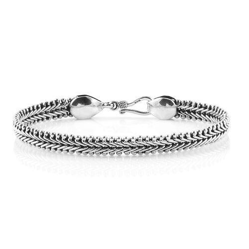 Royal Bali Collection Sterling Silver Tulang Naga Bracelet (Size 8), Silver wt 23.04 Gms.