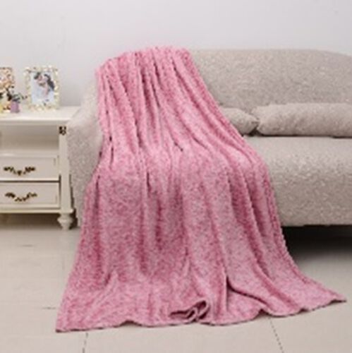 Melange Microfiber Flannel Blanket in Pink Colour (Size 150x200 Cm)