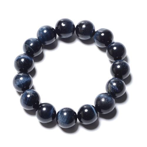 Tucson Special - AAA Blue Tiger Eye (Rnd 13-15mm) Adjustable Bracelet 283.25 Ct.