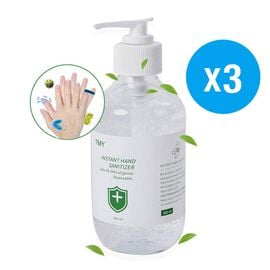 3 Piece Set 75% Alcohol Antibacterial Hand Sanitiser 99.99% Disinfectant Gel - 900ml