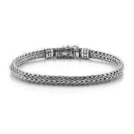Royal Bali Collection Sterling Silver Tulang Naga Bracelet (Size 7.5), Silver wt 26.00 Gms