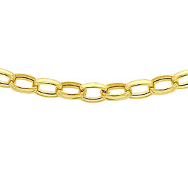 9K Yellow Gold Oval Belcher Chain (Size 20), Gold wt 2.30 Gms