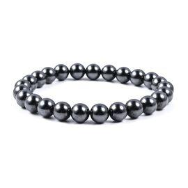 Hematite (Rnd) Stretchable Bracelet (Size 7) 145.00 Ct.