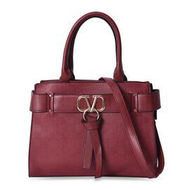 Belt Shaped Design Shoulder Bag with Detachable Shoulder Strap and Zipper Closure (Size 33.5x15x11 C
