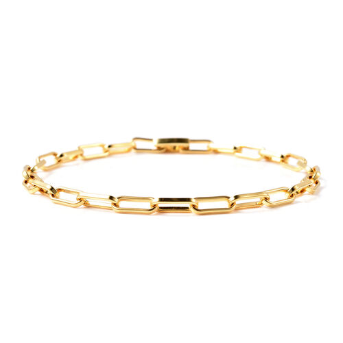 Designer Inspired- Link Bracelet (Size 7) in Yellow Gold Overlay Sterling Silver
