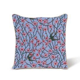 Signare Walter Crane - Almond Blosson and Swallow Pattern Cushion Cover (45x45 cm)