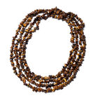 Tigers Eye Long Strand Beaded Necklace 100 Inch