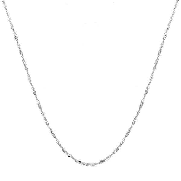 Sterling Silver Twisted Curb Chain (Size 18), Silver wt 3.66 Gms