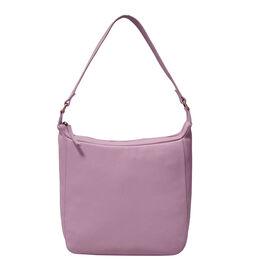 ASSOTS LONDON Bianca Genuine Pebble Grain Leather Slouchy Hobo Bag (Size 23x31x18cm) - Pale Pink
