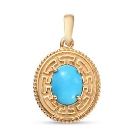 Arizona Sleeping Beauty Turquoise Pendant in 14K Gold Overlay Sterling Silver 1.320 Ct.