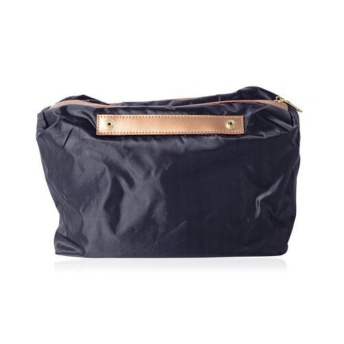 2 Piece Set-100% Genuine Leather Gold Colour Tote Bag (Size 46x32x29x13 Cm) and Pouch (Size 32x23x13 Cm)