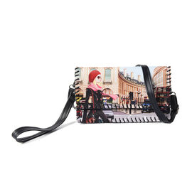 Urban Street Style Pattern Crossbody Bag with Adjustable Shoulder Strap and Clasp Button Closure (21