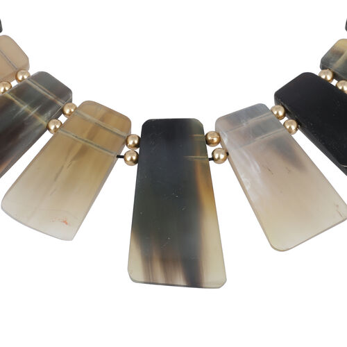 New Arrival- 100% Genuine Horn Made Tribal Style Necklace (Size 18)