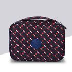 Water Resistant Portable Multi Colour Patterned Cosmetic Bag (Size 22x5x15x5cm) with Wrist Band Hand