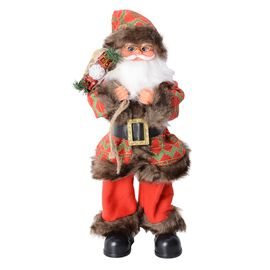 Christmas Decorations Singing Santa Claus Decor With Gift Bag (Size 53x15 Cm) (Needs 3 AAA Batteries