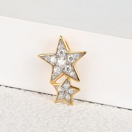 Sunday Child Natural Cambodian Zircon Star Pendant in 14K Gold Overlay Sterling Silver