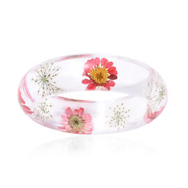 Pressed Flower Bangle (Size 7.5)