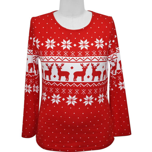 SUGAR CRISP Supersoft Long Sleeve Christmas Top  - Red