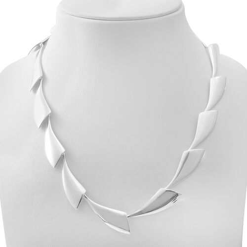 Sterling Silver Extendable Necklace (Size 20 with 1.5 Inch Extender), Silver wt 44.00 Gms