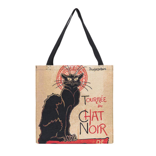 Signare Tapestry - 2 Piece Set - Tournee du Chat Noir Crossbody Bag (33x8x34cm) and Gusset Bag (22x5