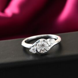 J Francis Sterling Silver Ring Made with SWAROVSKI ZIRCONIA 1.80 Ct.