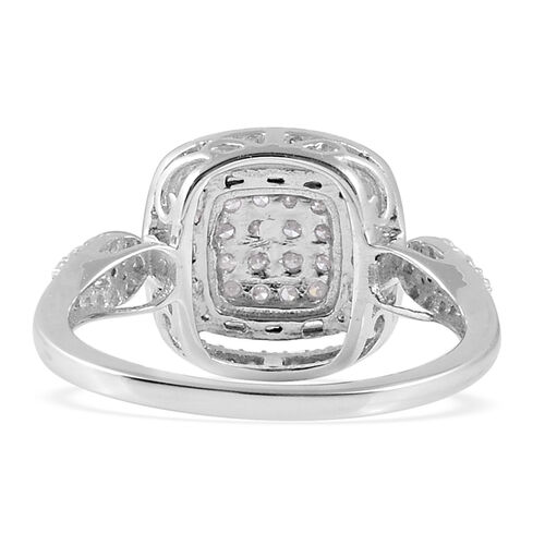 0.50 Ct Diamond Classic Cluster Ring in 9K White Gold SGL Certified I3 GH